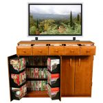Cherry Multimedia TV Cabinet With Drawers