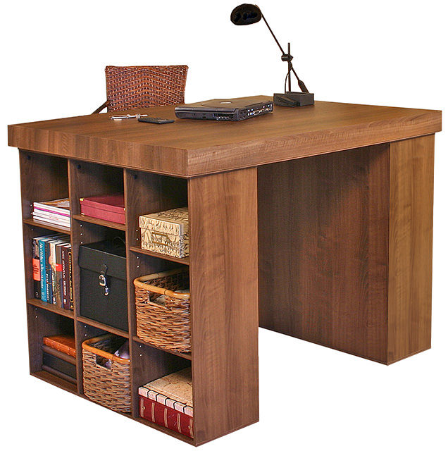 venture horizon project center-craft table-with 2 bookcases-model 1148-walnut