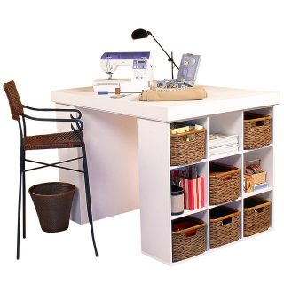 venture horizon project center with 2 bookcases-white