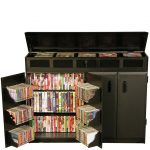 Black Top Load Cabinet