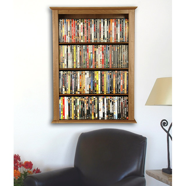 Cherry Wall Mount Media Cabinet